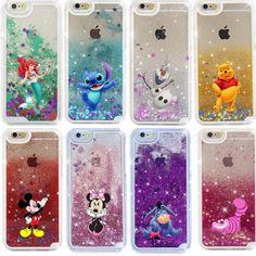 Glitter Star Liquid Case Mermaid Mickey Winnie Cheshire Cat Case Cover for IPhone Samsung #UnbrandedGeneric