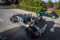 Ready, Set, GO! The Hillbank crew had an amazing time riding these Caterham Seven Demo cars.