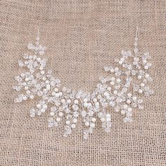 Bridal hair vine Wedding hair accessories by Gardenofflowers