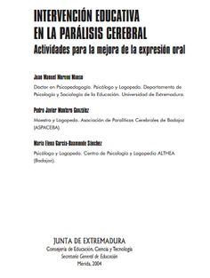 Logopedia creativa: INTERVENCIÓN EDUCATIVA EN LA PARÁLISIS CEREBRAL Actividades para la mejora de la expresión oral