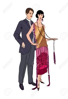 http://previews.123rf.com/images/terriana/terriana1406/terriana140600090/29302855-Couple-on-party-Man-and-woman-in-vintage-style-1920-Stock-Vector.jpg