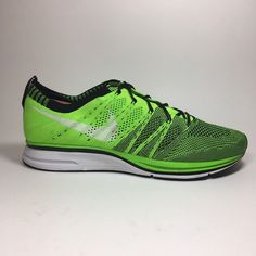 Nike Flyknit Trainer | Volt Green Training Shoes | Mens Size 9.5