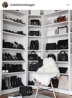 51 Bag Closet Ideas for Women - decortip Bag Closet, Wardrobe Closet, Closet Bedroom, Closet Clothing, Master Closet, Closet Vanity, Luxury Closet, Dream Closets, Dream Wardrobes