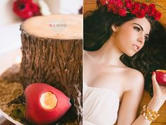 Snow White Styled Wedding Shoot. This would also be cute with sleeping beauty!
