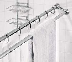 Image detail for -Shower Curtain and Towel Rack in One « Luxury Housing Trends love this idea