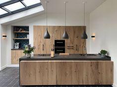 Rural and modern design kitchen Loft Kitchen, Home Decor Kitchen, Kitchen Furniture, Diy Kitchen, Walnut Kitchen, Loft Furniture, Kitchen Hacks, Kitchen Ideas, Home Interior