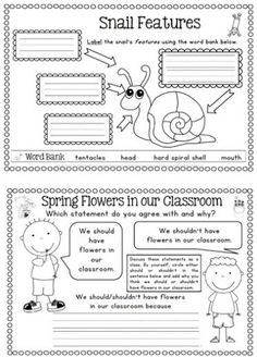 Spring Literacy Centers and Worksheets BUNDLE $