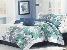 Aloha Hibiscus Full/Queen Coverlet Set oceanstyles.com