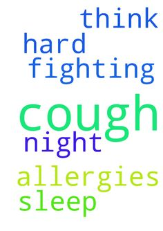 I would like prayers that I get over this cough I have - I would like prayers that I get over this cough I have been fighting. Think it's allergies. Been hard to sleep at night. Thank you. Posted at: https://prayerrequest.com/t/bNX #pray #prayer #request #prayerrequest