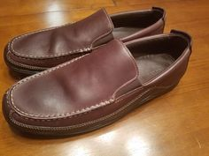 5ac8f2944f3 Cole Haan Mens Tucker Venetian Brown Leather Slip On Driving Loafers Size  11.5 M  fashion