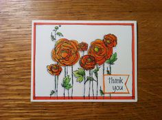 Made with Stampendous Ranunculus Field.  Colored with Copics.