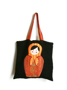 Handmade matrioska tote bag by amarantafirenze on Etsy