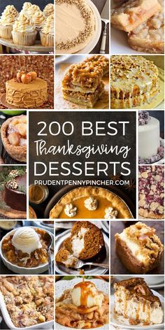 200 Best Thanksgiving Desserts 200 Best Thanksgiving Desserts More from my site The Best Brown Sugar Buttercream Frosting 50 Best Thanksgiving Dessert Recipes – You Need to Make Now! 33 Thanksgiving Recipes You Can Make Ahead Köstliche Desserts, Holiday Desserts, Holiday Baking, Christmas Sweets, Health Desserts, Autumn Desserts, Creative Desserts, Christmas Cupcakes, Holiday Foods