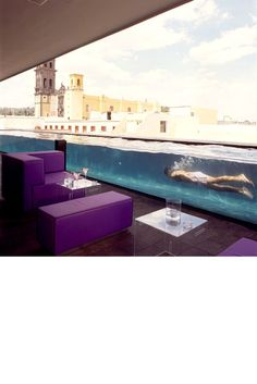 Designed by one of Mexico's most famous architects, Ricardo Legorreta, the highlight of La Purificadora in undoubtedly its innovative glass walled swimming pool. Arrive mid-afternoon, enjoy a Magarita Rosa between lengths and take in the views of the UNESCO world heritage historic centre of Puebla. Visit lapurificadora.com.