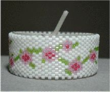 Floral Garland Tea Light by Sharon Boehme