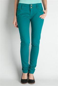 Pantalon droit détails clous poche