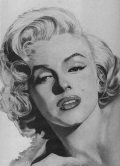 ❤Marilyn Monroe Art ~*❥*~❤ love her Marylin Monroe Drawing, Marilyn Monroe Dibujo, Marilyn Monroe Tattoo, Digital Portrait, Portrait Art, Luna Tattoo, Drawing Sketches, Drawings, Celebrity Portraits