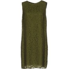 Dolce & Gabbana Short Dress (51.630 RUB) ❤ liked on Polyvore featuring dresses, emerald green, short lace dress, green cocktail dress, green lace dress, lace cocktail dress and sleeveless lace dress