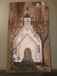 Fall Canvas Painting, Pallet Painting, Pallet Art, Painting On Wood, Painting & Drawing, Canvas Art, Wood Paintings, Easy Paintings, Wood Plank Art