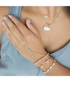 Hanna Bracelet in White Iridescent - Kendra Scott Jewelry.