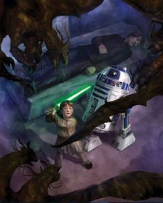 Jacen Solo steals his uncle's lightsaber by Chris Scalf