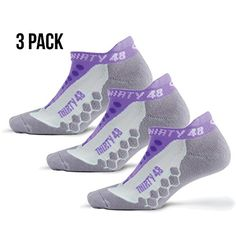 Thirty48 Running Socks Unisex, CoolMax Fabric Keeps Feet Cool & Dry ** Click image for more details.