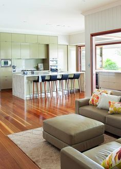 Beautiful Queensland mansion restored - Home Beautiful Buy Bar Stools, King Furniture, Neutral Bedrooms, Banquette Seating, Pretty Bedroom, Formal Living Rooms, Kitchen Living, Traditional House, Architecture Details