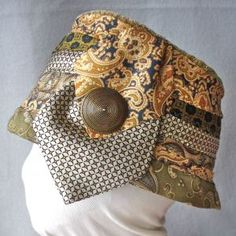 hat upcycled from old ties