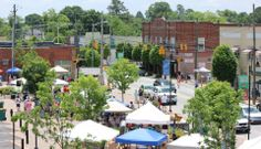Downtown Clayton during the Millstock Music & Arts Faire in April. Make your plans to attend this year!