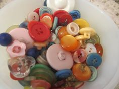 Buttons Destash Sale Cup of Vintage Colorful by LeapingFrogDesigns, $4.50