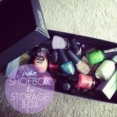 shoeboxes make great storage containers!