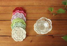 |风物札记|彩色棉线纯手工杯垫 手钩垫