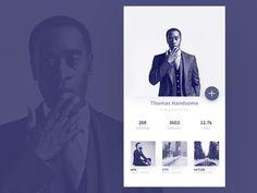 50 User profile page — Design Inspiration | by Muzli | Muzli - Design Inspiration Web Design, App Ui Design, Brochure Design, Page Design, Profile App, Profile Website, Template Web, App Design Inspiration, Daily Inspiration