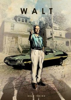 gran torino walt kowalski clint eastwood car legends legend muscle Characters*m. Auto Poster, Car Posters, Clint Eastwood, Eastwood Movies, John Wick Mustang, Movies Showing, Movies And Tv Shows, Harey Quinn, Eden Design