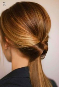 Flipped Ponytail - hairstyles for clinics http://www.nursebuff.com/2014/06/best-hairstyles-for-nurses/