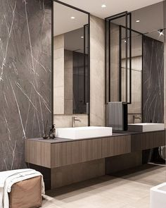 Bathroom decor, Bathroom decoration, Bathroom DIY and Crafts, Bathroom Interior design Modern Master Bathroom, Small Bathroom, Master Bathrooms, Luxury Bathrooms, Bathroom Mirrors, Bathroom Cabinets, Bathroom Layout, Bathroom Interior Design, Bathroom Plans