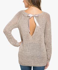 Another great find on #zulily! Mocha Boatneck Keyhole-Back Sweater #zulilyfinds