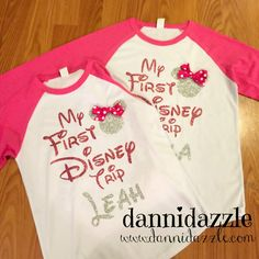 Take your trip with Glamulet charmsMy First Disney Trip Shirt/Family Disney by DanniDazzle on Etsy Disney Vacation Shirts, Disney World Shirts, Disney Shirts For Family, Disney World Vacation, Disney Vacations, Family Shirts, Disney Trips, Disney Family, Disney Cruise