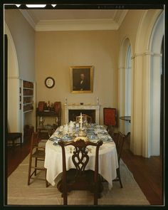 FAMILY DINING ROOM, FACING SOUTHWEST - Arlington House, Lee Drive, Arlington National Cemetery, Arlington, Arlington County, VA