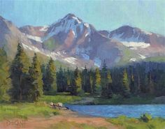"""Daily+Paintworks+-+""""Ruby+Mountain+Morning""""+-+Original+Fine+Art+for+Sale+-+©+Larry+DeGraff"""