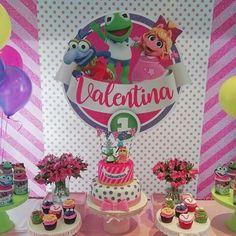 1 Year Birthday, Little Girl Birthday, 3rd Birthday Parties, Baby Birthday, Birthday Ideas, Muppet Babies, Disney Junior Birthday, Baby Party, First Birthdays