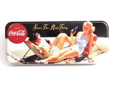 Vintage Collectible 1980's Coca Cola pencil case. Storage, Coca Cola Collectibles.