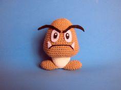 Amigurumi Goomba  Super Mario crochet  en Etsy, €14.00