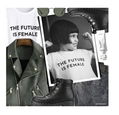 """""""the future is female"""" by meyli-meyli ❤ liked on Polyvore featuring Diesel, Ray-Ban and romwe"""