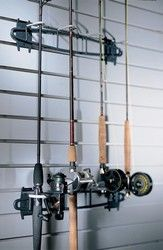 Garage Fishing Rod Rack