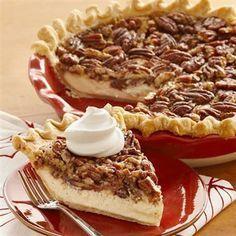 Vanilla Pecan Pie - Cheesecake meets pecan pie in this smooth and decadent seasonal dessert.