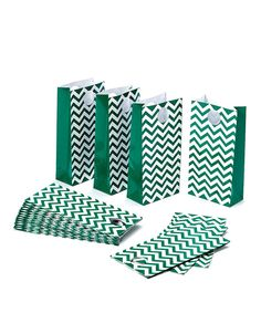 Look at this Green Zigzag Treat Bag - Set of 20 on #zulily today!
