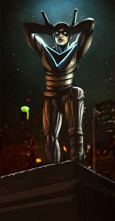 "comicsbeforecandy: "" Nightwing by DismalFreak "" Dc Comics Art, Marvel Dc Comics, Anime Comics, Batman Art, Batman Robin, Comic Books Art, Comic Art, Nightwing And Starfire, Comic Manga"