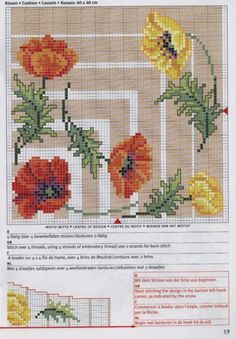 Cross-stitch Colorful Poppies Tablecloth pattern, part 2..  color chart on part 1...   Gallery.ru / Фото #38 - rico3 - vira-pagut