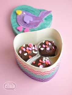 Decorate a plain wood box and send your own box of chocolates - great homemade gift idea for Valentines Day or Mother's Day